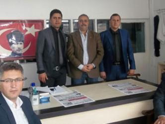 Kaymakam  Şükrü Özcan'dan  gazetemize  ziyaret