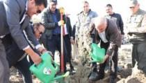 Kaman'da14 bin 900 adet fidan toprakla buluştu