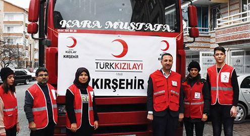 Kızılay Kırşehir Şubesinden deprem bölgesine insani yardım gönderildi
