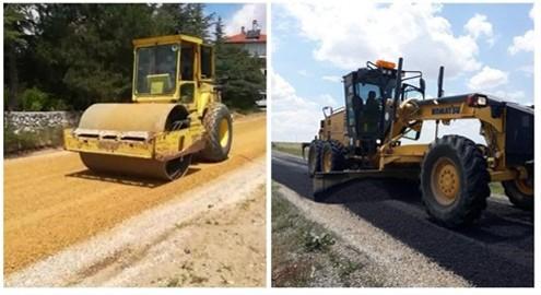 Köy yollarını yenileme çalışmaları devam ediyor