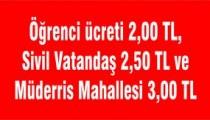 YOLCU ÜCRETLERİNE ZAM GELDİ