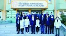 Vali Akın Ve Milli Eğitim Müdürü Metin Alpaslan'dan Türk Telekom Osman Kulaksız Meslek Lisesine ziyaret